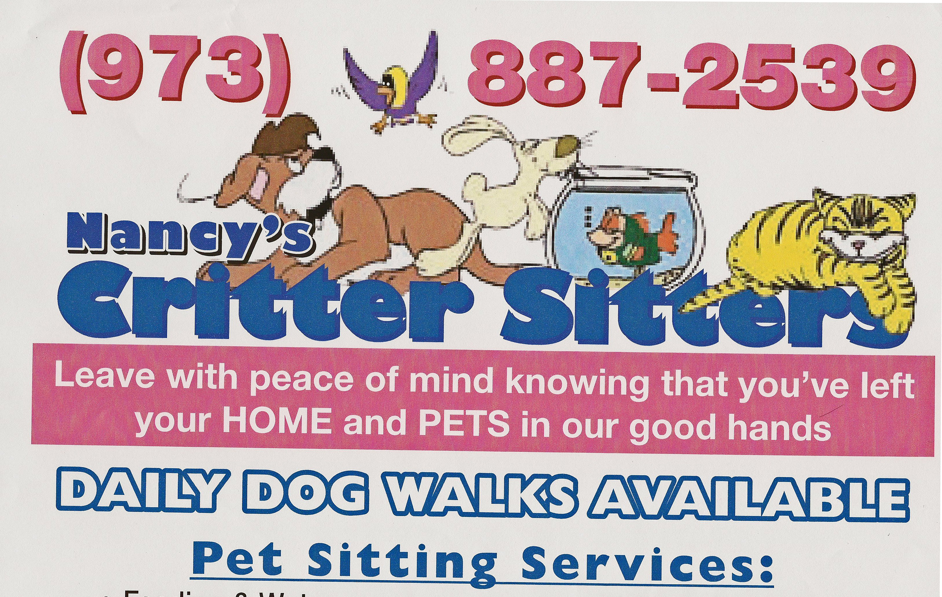 Pet Friendly Nancy's Critter Sitters