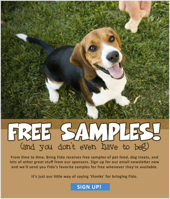 Free Samples of Fido's Favorites
